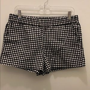 """J. Crew Factory black and white 4"""" pull on shorts"""
